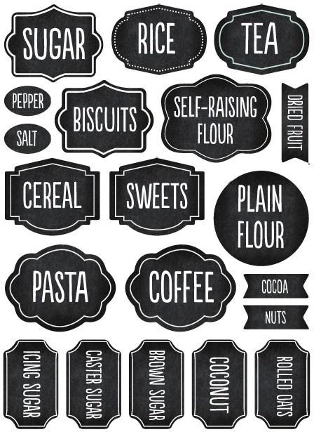 Pantry Labels ~ tinyme.com.au