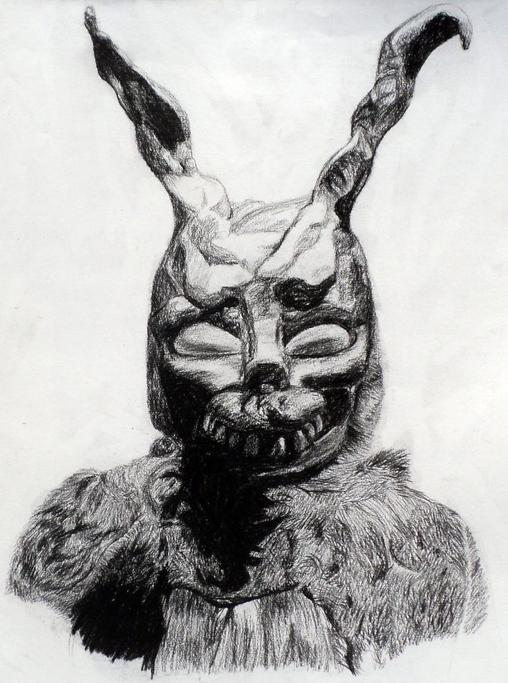 Donnie Darko, this movie confuses me. I know I have seen drawins or paintings about this rabbit a long time ago, I just can't remember where...