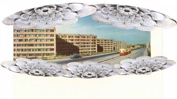 Αικατερίνη Γεγησιάν, Traffic, σειρά 'A Little Bit too Much, A Little Bit too Late', 2011, κολάζ, 24 x 39.5 εκ., KALFAYAN GALLERIES (Αθήνα-Θεσσαλονίκη)