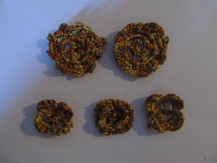Handmade crochet motif (5 pcs) Craft supplies Jewelry materials