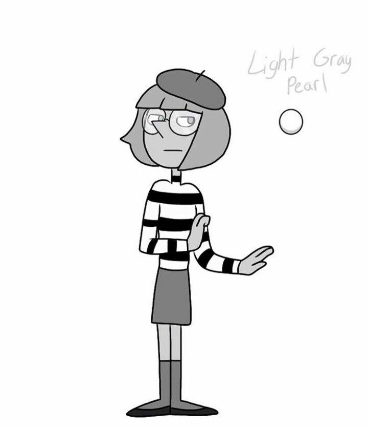 Light Gray Pearl FanGem Steven Universe