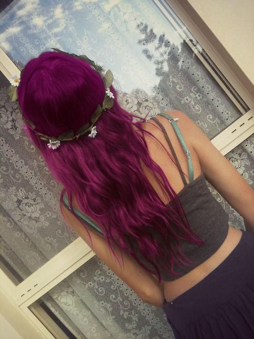Purple dyed hair!