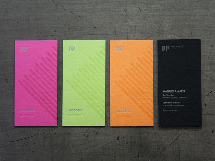 Neon Business Cards Would Be My Pick