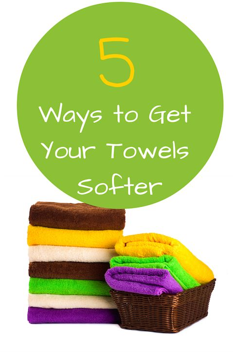 Having a nice soft towel after your bath or shower can be total bliss. Some detergents and fabric softeners just don't cut it. Here are super easy ways to get your towels as soft as they should be.
