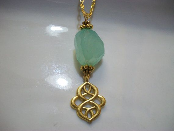 FREE SHIP Infinity Pendulum Necklace  Faceted by Dare2beUNIQUE