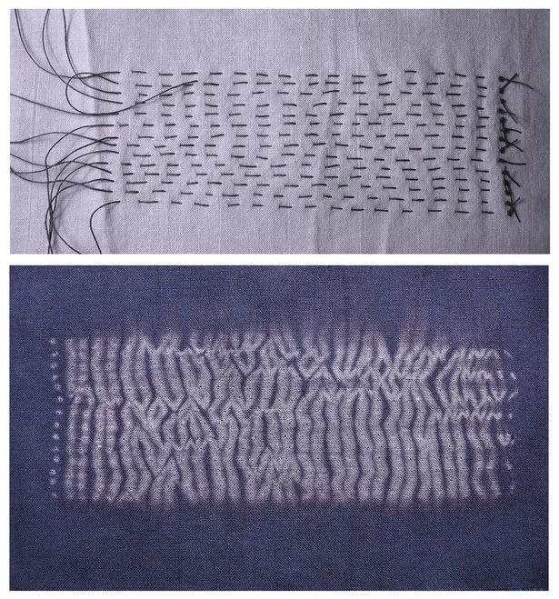 shibori dying techniques  Watched a Master at Shibori...he stitched, folded and gathered and stictched more...result was impossible to believe.  Amazing!