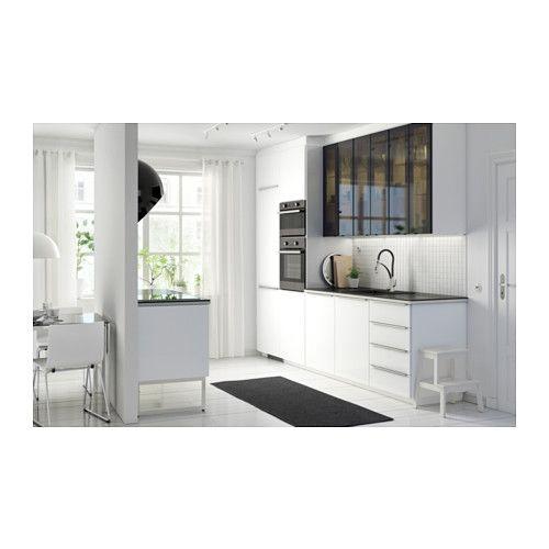 Ringhult Grey Kitchen: RINGHULT Puerta, Alto Brillo Blanco