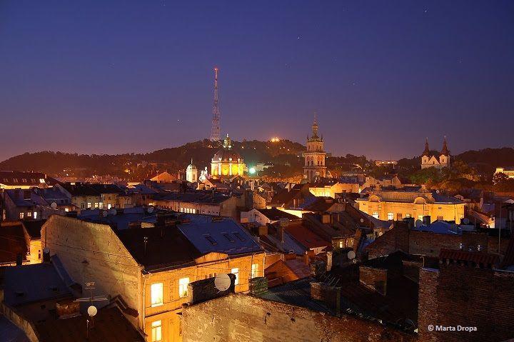 Lviv at night by Marta Dropa