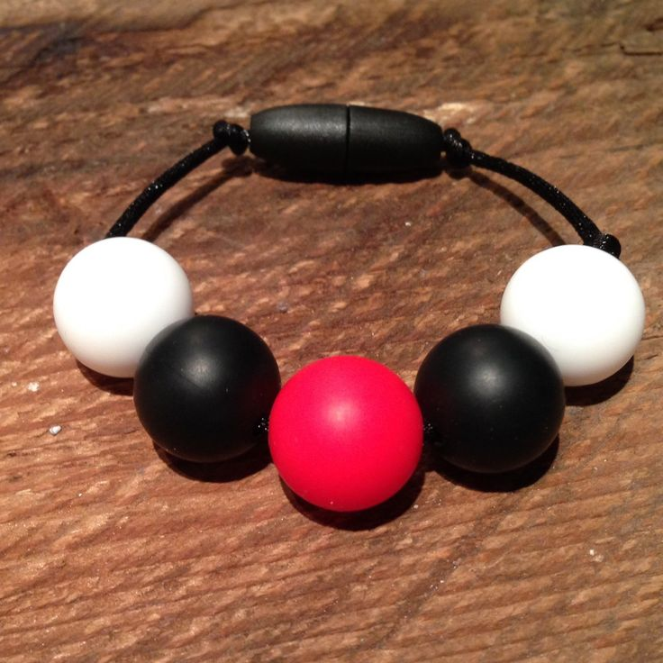 My first custom order- a sensory bracelet for an Ottawa senator fan from Ottawa!