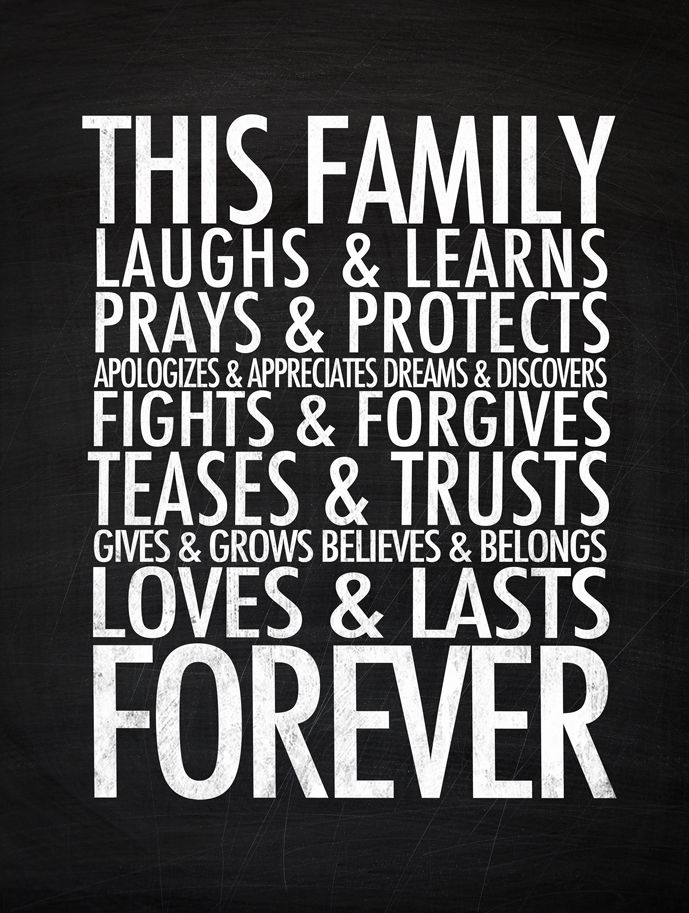 This family...loves + lasts forever. #digital #artprints #quotes