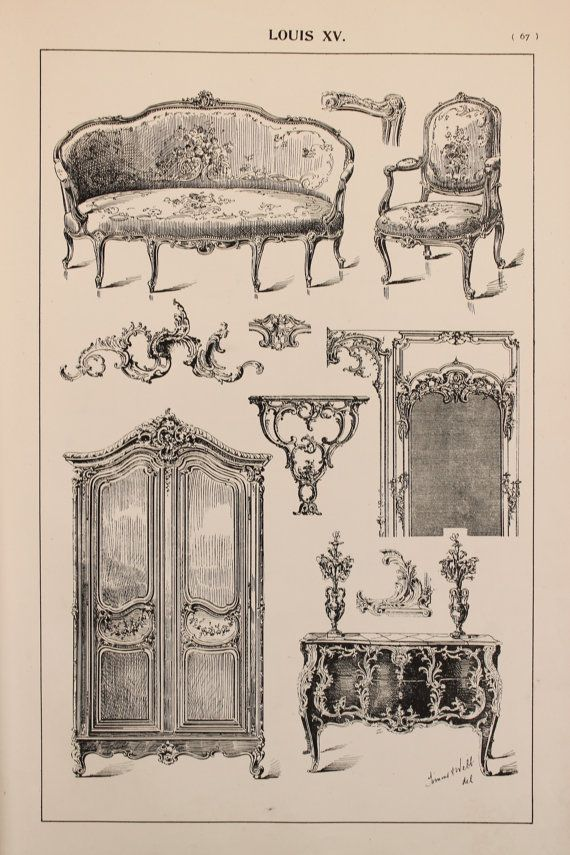 Hey, I found this really awesome Etsy listing at https://www.etsy.com/listing/237863239/french-louis-xv-furniture-designs-large