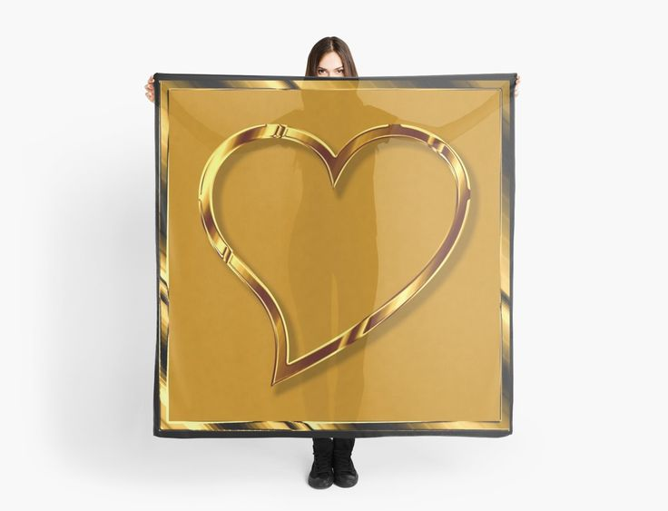 Valentine heart in gold look • Also buy this artwork on apparel, stickers, phone cases, and more.