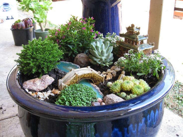 25 b sta miniature zen garden id erna p pinterest minitr dg rdar fetr dg rd och fairy houses - Japanese sand garden mini ...