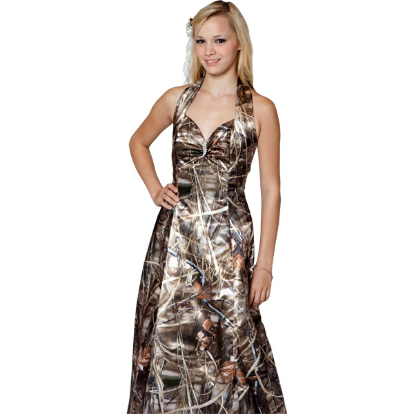 Max-4 Camo Formal Wedding/ Prom dress, available at Paris Bridal and Formal Outlet- Paris, TX
