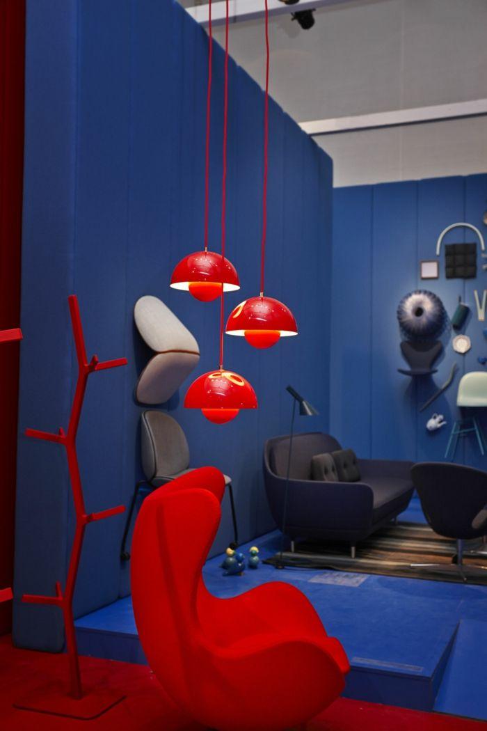 1001 Ideen Zum Thema Welche Farbe Passt Zu Rot Wandfarbe Grun Blaue Wande Innenraumfarben