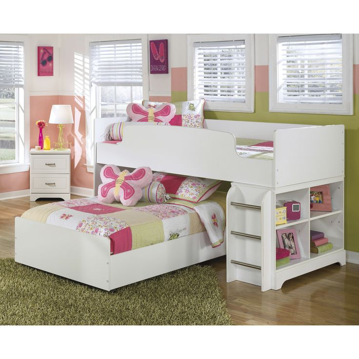 Best Signature Design By Ashley B102 68B Lulu Loft Caster Bed 640 x 480