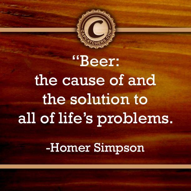 Homer Simpson on beer.
