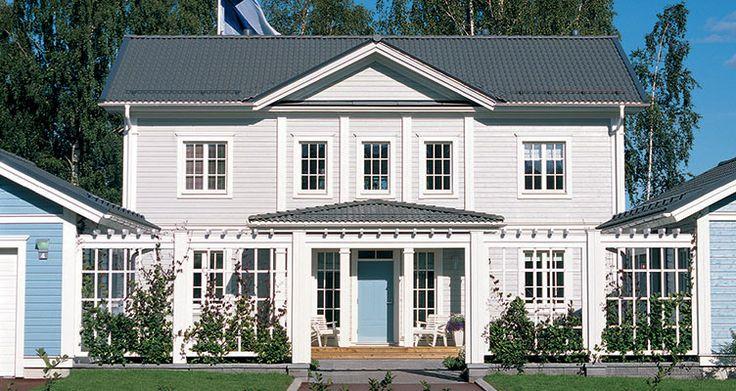 The Aurora Villa, house design by Finnish construction company Kannustalo | KANNUSTALO - Mallistot - Räätälöidyt - Talomallit
