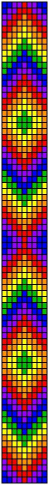 rainbow chevron loom pattern
