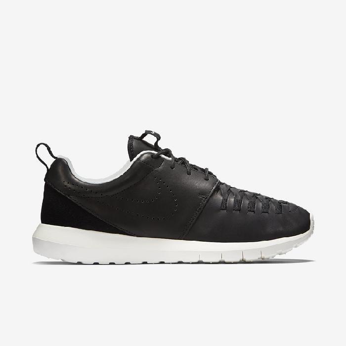Hot Nike Roshe Run NM Woven Männliche Schuhe Schwarz Weiß mit Niedrigem Preis Bestellen
