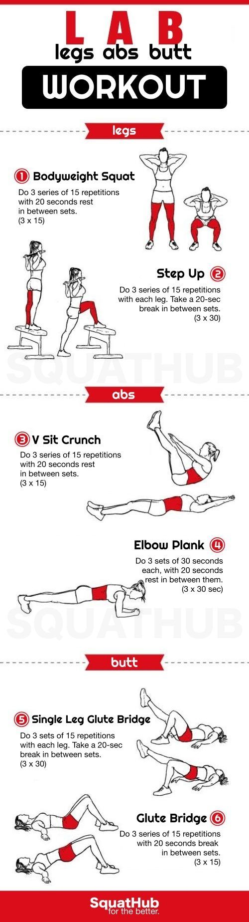 LAB Workout To Tone And Tighten Your Legs, Abs And Butt