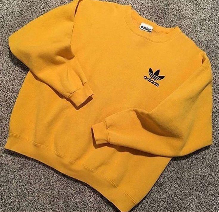 pastor Copiar aficionado  yellow Adidas sweatshirt - Addidas Shirt - Ideas of Addidas Shirt  #addidasshirt #addidas - yellow Adidas sweats… in 2020 | Trendy sweatshirt, Yellow  adidas, Vintage hoodies