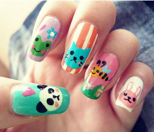 cute nail art - Google Search