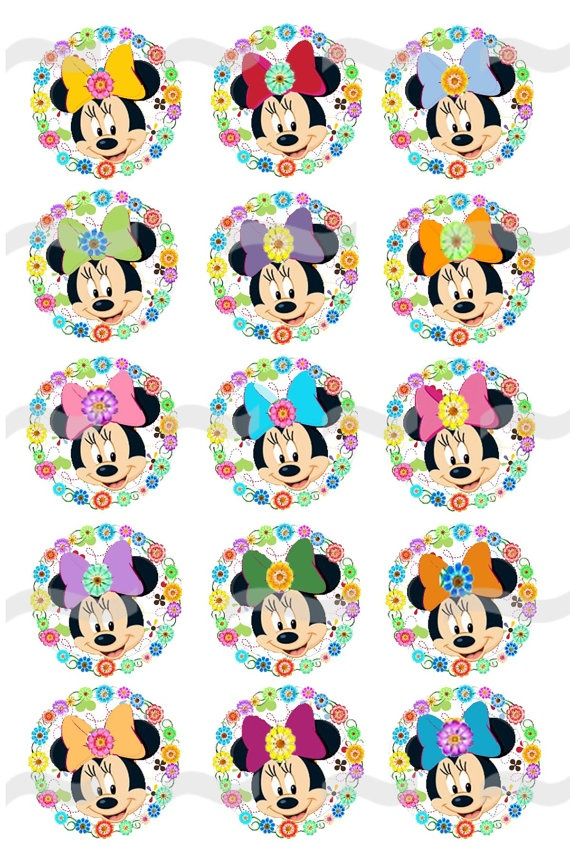 MINNIE MOUSE 2 1 Digital Bottle Cap Images by JRBottleCapDesigns, $1.50