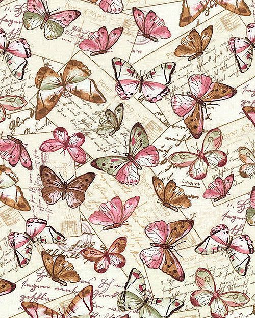 Paris Rendezvous - Butterfly Postcards - Cream