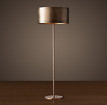 Antiqued Metal Drum Floor Lamp