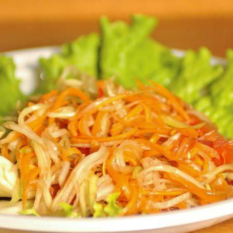 Salade thaïlandaise de papaye verte - une recette Salade -...