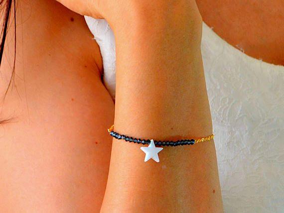 #OPAL STAR bracelet, blue star, american flag, #kaballah jewelry, pentagram necklace, #davids star, amulet jewelry, protection jewelry, 40% sale, luck pendant,