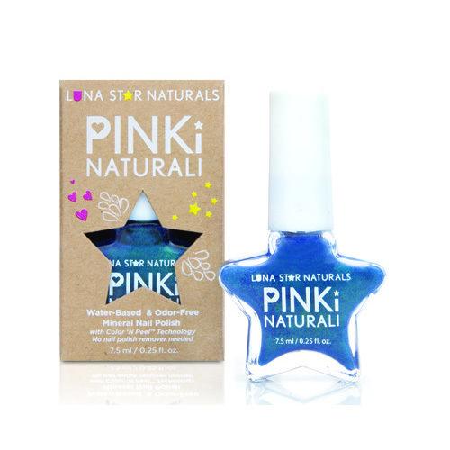 Lunastar Pinki Naturali Nail Polish Salem (Metallic Blue) .25 fl Oz