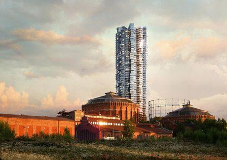 Oscar Properties : Gasklockan #oscarproperties  architecture - Herzog & de Meuron - Herzog&deMeuron - design - Stockholm - Sweden