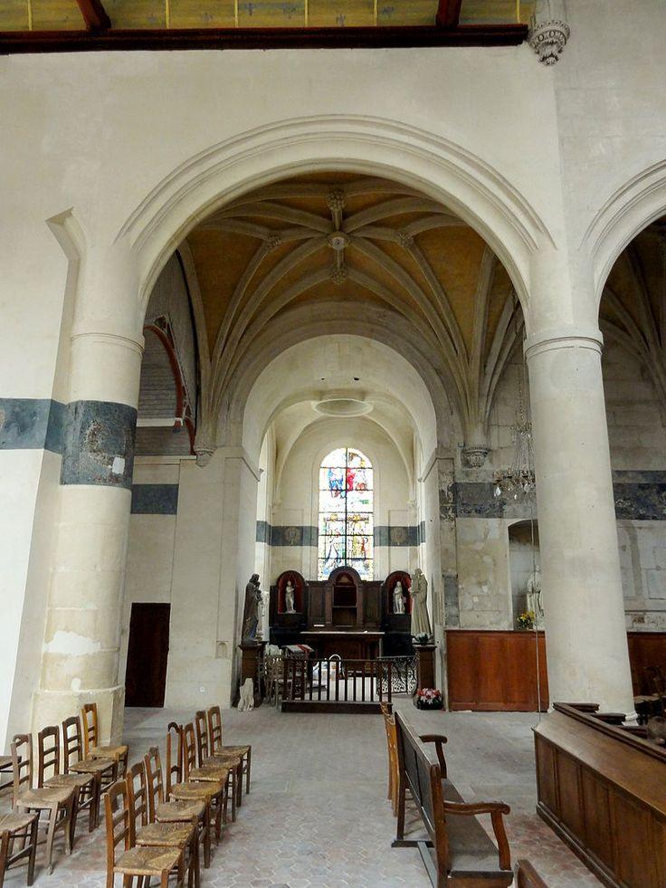 Écouen (95), église Saint-Acceul, nef, 4e grande arcade 2 - Église Saint-Acceul d'Écouen — Wikipédia