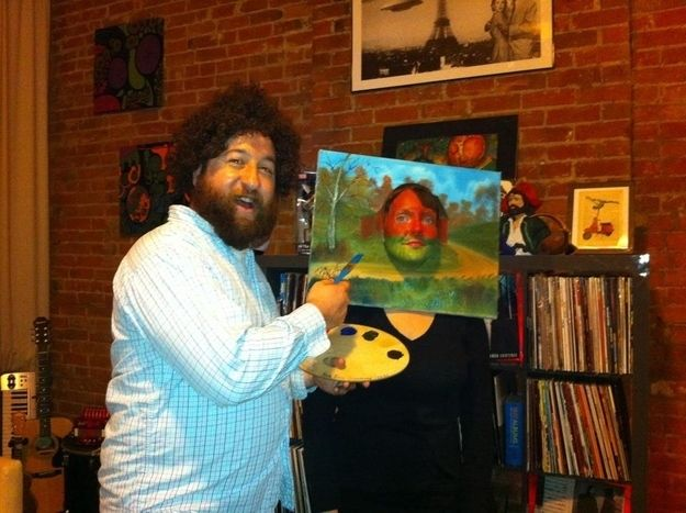 Bob Ross and a Painting | 41 Two-Person Costumes That Will Up Your Halloween Game