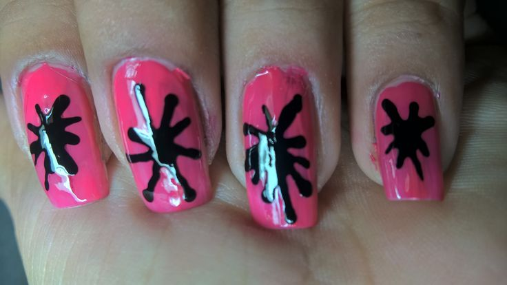 Stylish And Simple Splatter Nails (Latest Nail Trend 2016)