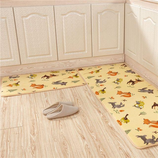Large Bathroom Mat For Home 2 Pcs Set Non Slip Bedmat Waterproof Kitchen Carpet Cheap Toilet Bath Mats Modern Bathro Bathroom Mats Bathroom Rugs Kitchen Carpet