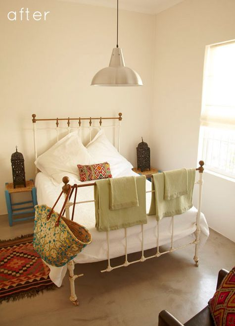 love this bed frame the cement floor and the rug i miss. Black Bedroom Furniture Sets. Home Design Ideas