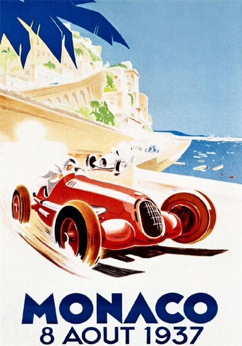 "vintascope: "" Monaco 1937 poster """