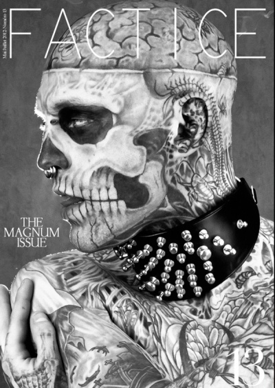 """Rick Genest, aka """"Zombie Boy""""...performer, model, personal stylist for Lady Gaga and creative director of the legendary Paris based fashion house Theirry Mugler...not bad for a 26 year old!!"""