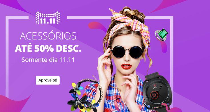 Maquiagem e acessórios com até 50% de desconto! O melhor do 11/11 você confere aqui: www.ofertasnodia.com