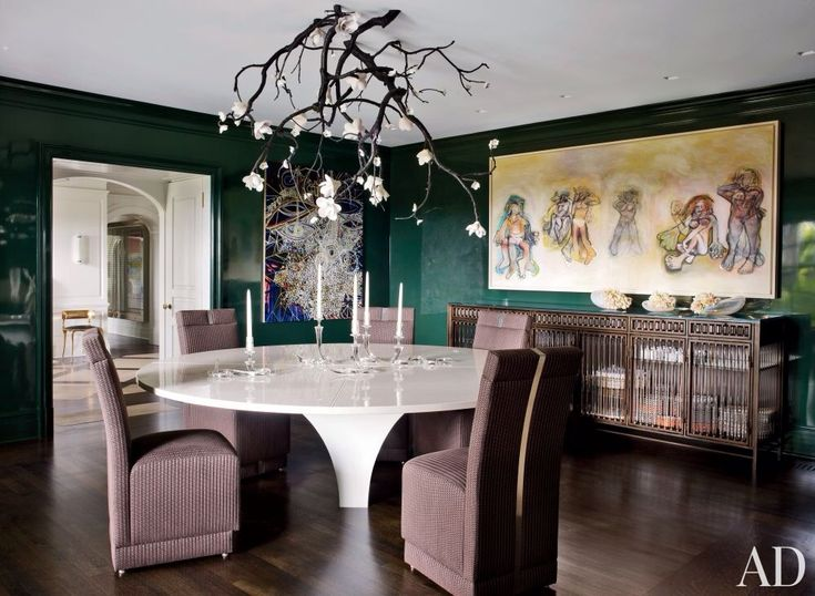 Asian Dining Room With Elk Lighting Viviana Collection 10 Light Chandelier Hardwood Floors Crown Molding