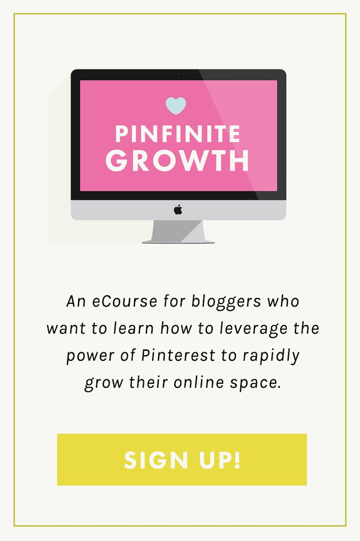 Pinfinite Growth is an eCourse for bloggers and business owners who want to leverage the power of Pinterest to rapidly grow their online space.