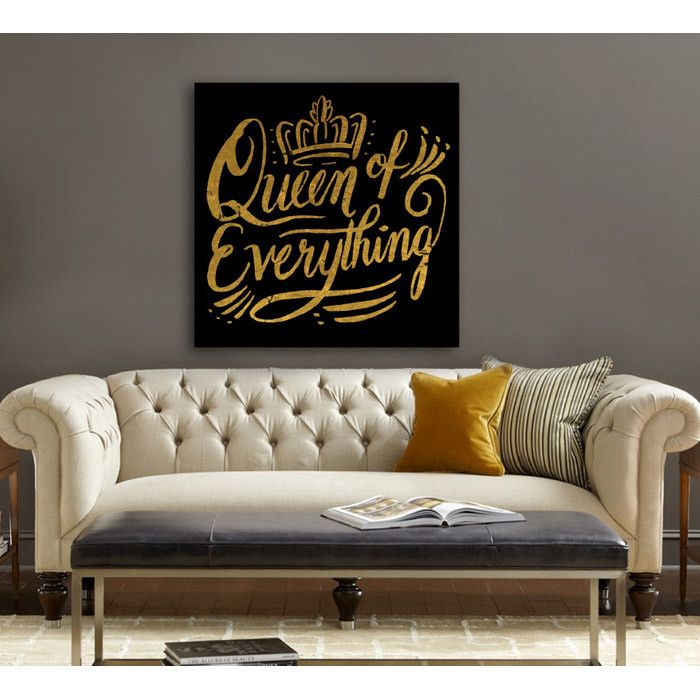 Queen of Everything Canvas Print, Oliver Gal