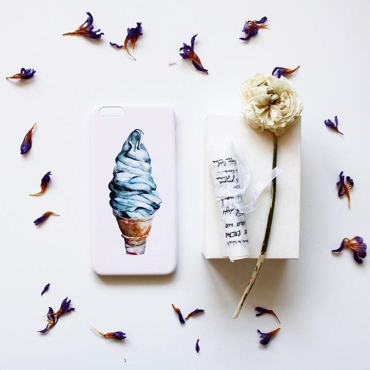 Нежно-розовый английский кейс Hipoco для #iphone6s. На Hipoco.com ловите по слову мороженое стоимость чехла  1500 р. Автор иллюстрации @aidana1 . #hipoco hipoco.com
