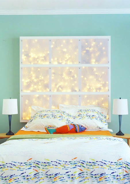 lighted headboard. a lot easier to make than i originally thought