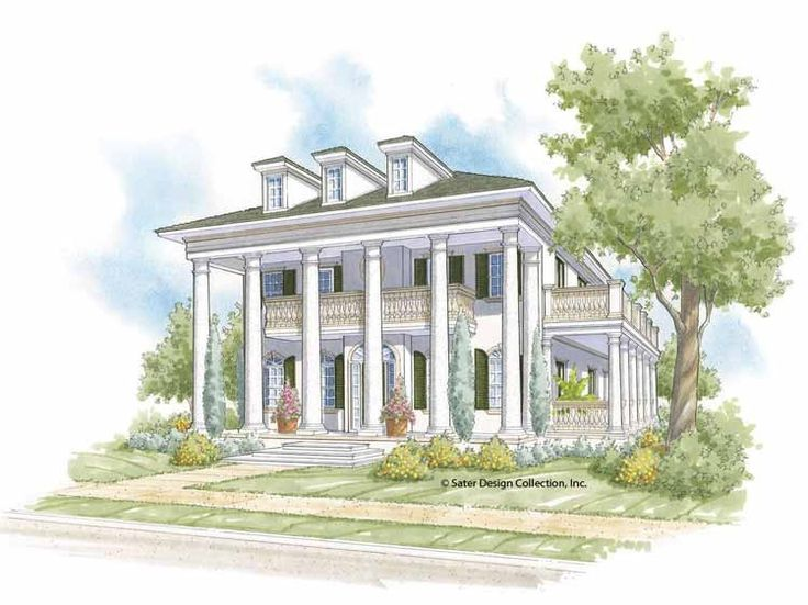 Eplans Plantation House Plan - Gorgeous Ceiling Treatments! - 3810 Square Feet and 3 Bedrooms(s) from Eplans - House Plan Code HWEPL68269