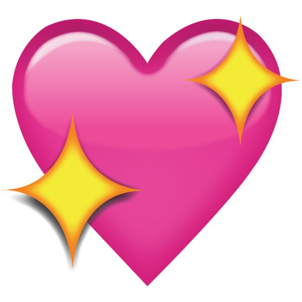 Sparkling Pink Heart Emoji - Add a romantic touch to your messages with this love emoji, which is shaped like a heart and finished with yellow diamond sparkles.