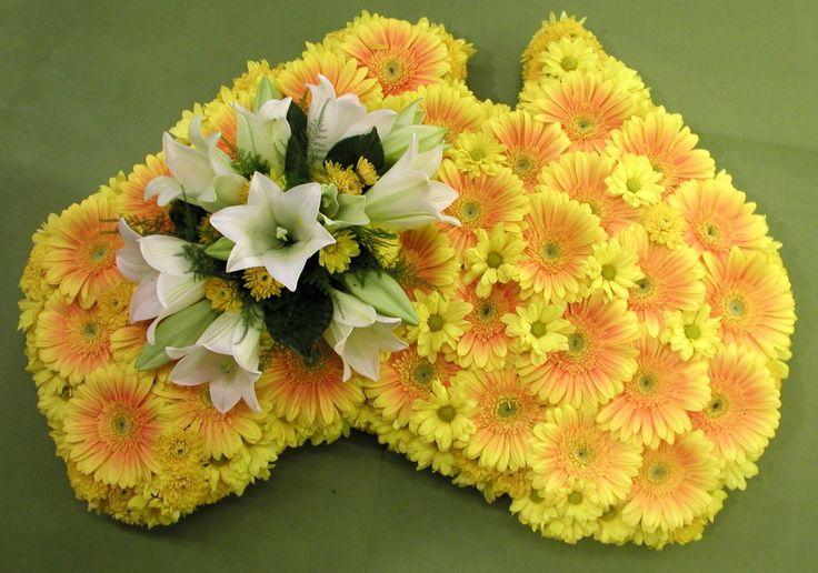 Australian Tribute - Yellow Gerbera's and Christmas Lilies
